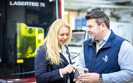 Corinna Lindinger, Managing Director of TFM, and Michael Reitberger, responsible for Sales and Technical Plant Management.